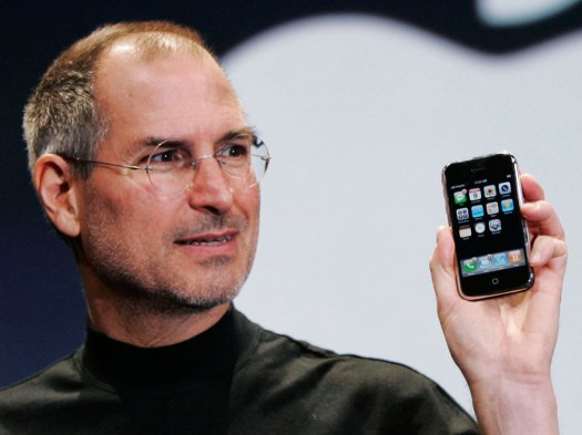 Steve Jobs introducing the new iPhone