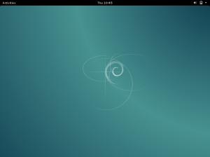 Debian 8 dengan desktop GNOME
